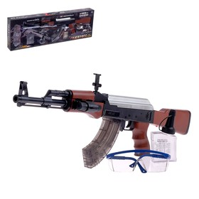 Автомат AK-47, стреляет гелевыми пулями, работает от аккумулятора