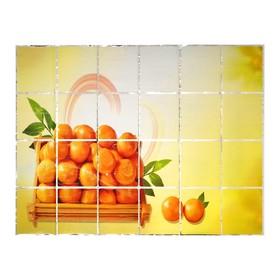 Наклейка на кафельную плитку 'Мандарины' 90х60 см Ош