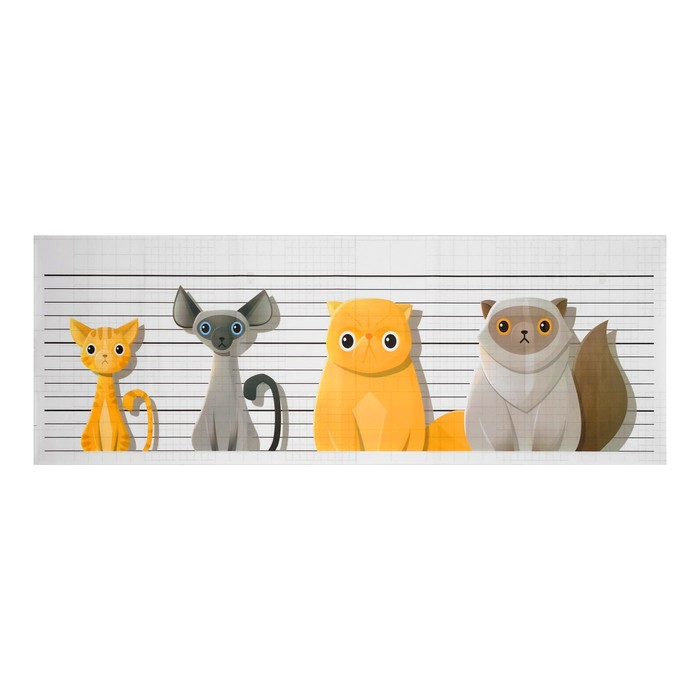 """Наклейка на кафельную плитку """"Коты-разбойники"""" 30х90 см"""
