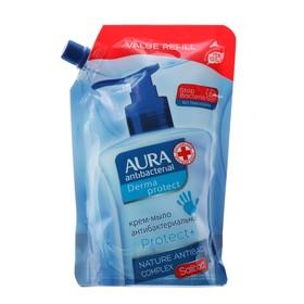 AURA Крем-мыло антибактериальное Derma Protect дой-пак 500мл