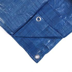 Тент защитный, 4 × 5 м, плотность 60 г/м², люверсы шаг 1 м, синий Ош