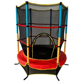 Батут 4,5 ft, d=137 см, с внутренней защитной сеткой, разноцветный