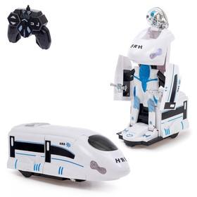 Робот-трансформер радиоуправляемый «Поезд», световые и звуковые эффекты, работает от батареек