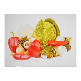 Наклейка на кафельную плитку 'Полезные овощи' 90х60 см Ош