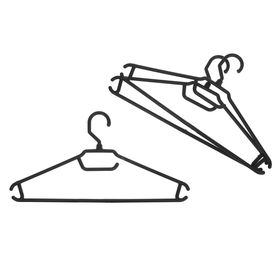 Набор вешалок-плечиков для лёгкой одежды 3 шт, цвет чёрный
