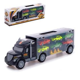 Грузовик «Перевозчик», с 6 гоночными машинами и аксессуарами