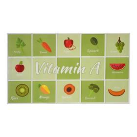Наклейка на кафельную плитку 'Витамины' 45х75 см Ош