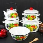 Набор посуды «Джем», 5 предметов: Кастрюли 3 л, 6 л, 8 л, Чайник 3 л, Миска 4 л - фото 3799483