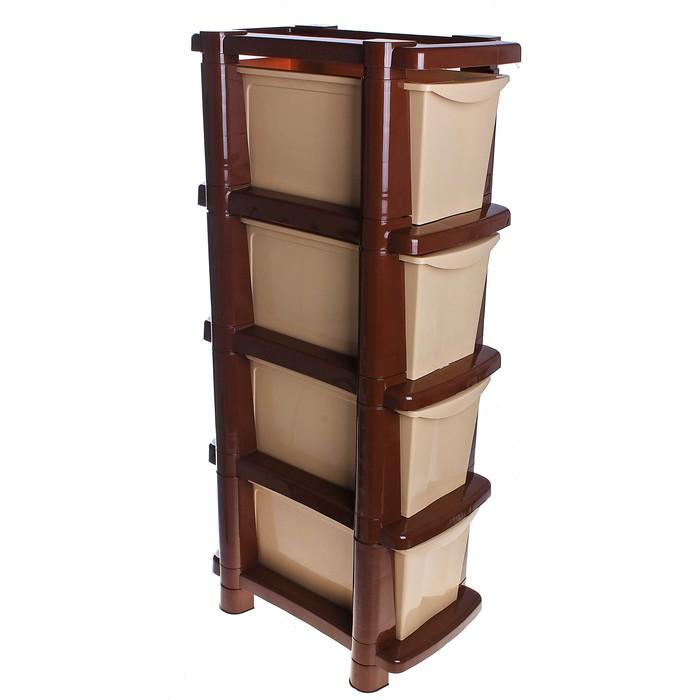 Комод 4 секции Deco, цвет коричневый, бежевый