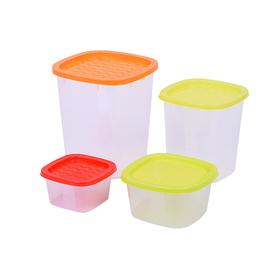 Набор пластиковых ёмкостей Oursson, 0.23/0.5/1.0/2.0 л, 4 шт