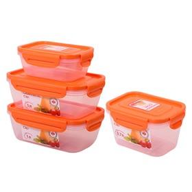 Набор пластиковых контейнеров Oursson, 0.4/0.7/1.0/1.0 л, 4 шт