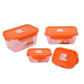 Набор пластиковых контейнеров Oursson, 0.4/0.4/1.0/1.3 л, 4 шт