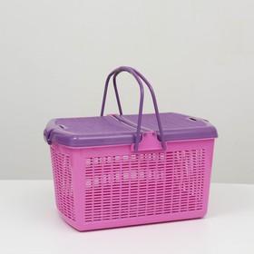 Переноска для собак и кошек, фиолетовая,  47х36х27,5 см