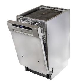 Посудомоечная машина BBK 45-DW202D, класс А, 9 комплектов, расход 10 л, 45 см, серая