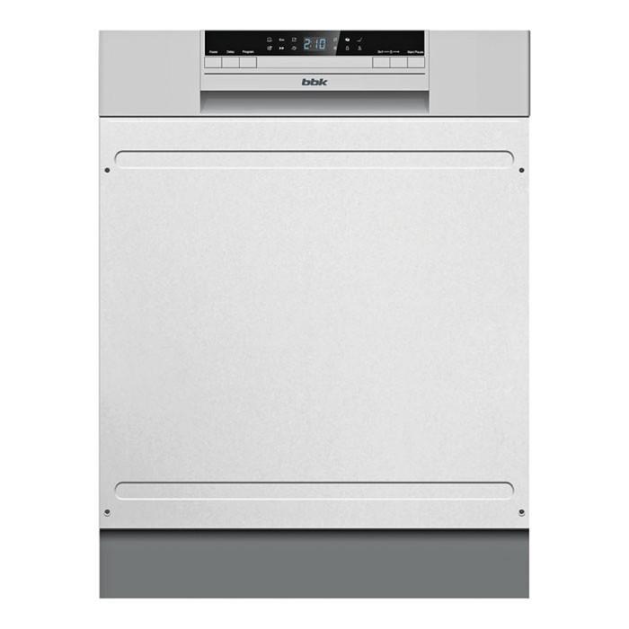 Посудомоечная машина BBK 60-DW203D, класс А, 12 комплектов, расход 11 л, 60 см, дисплей, серебристая