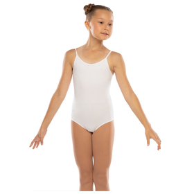 Costume gymnastic cotton, color white, size 26