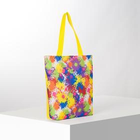 Сумка текстильная, отдел на молнии, с подкладом, цвет разноцветный