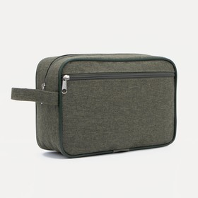 71032D Cosmetic bag road, 25 * 8 * 17, separate with a zipper, n / pocket, khaki