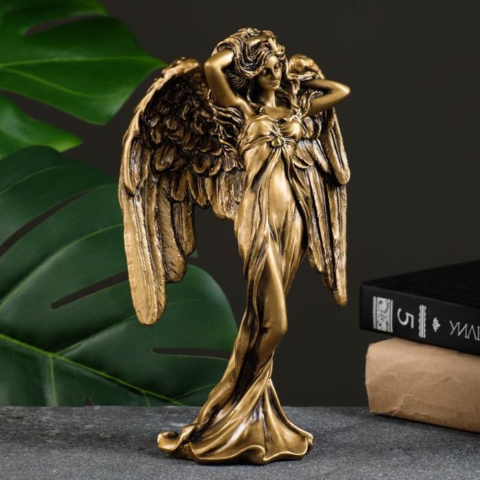 """Фигура """"Ангел"""" золото 7х13х22,5см"""