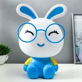 """Настольная лампа """"Заяц"""", 1х15Вт Е14,  цвет синий"""