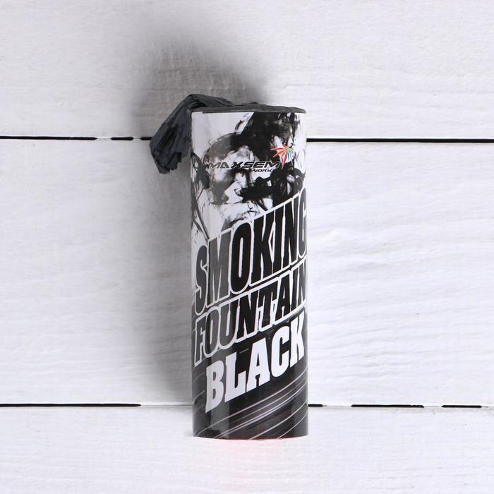 Цветной дым чёрный, заряд 1,75 дюйма, МАКСИ, очень высокая интенсивность, 30 сек, 11,5 см