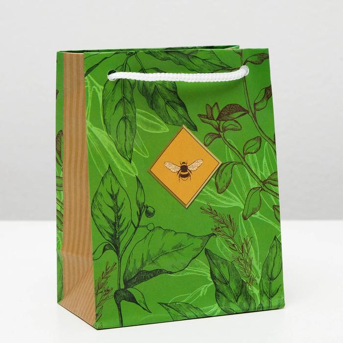 """Пакет подарочный """"Пчелка"""", 11,5 х 14,5 х 6,5 см - фото 308286409"""