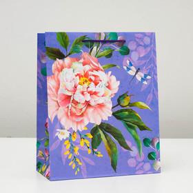 "Пакет подарочный ""Красивый цветок"", 26 х 32 х 12 см"