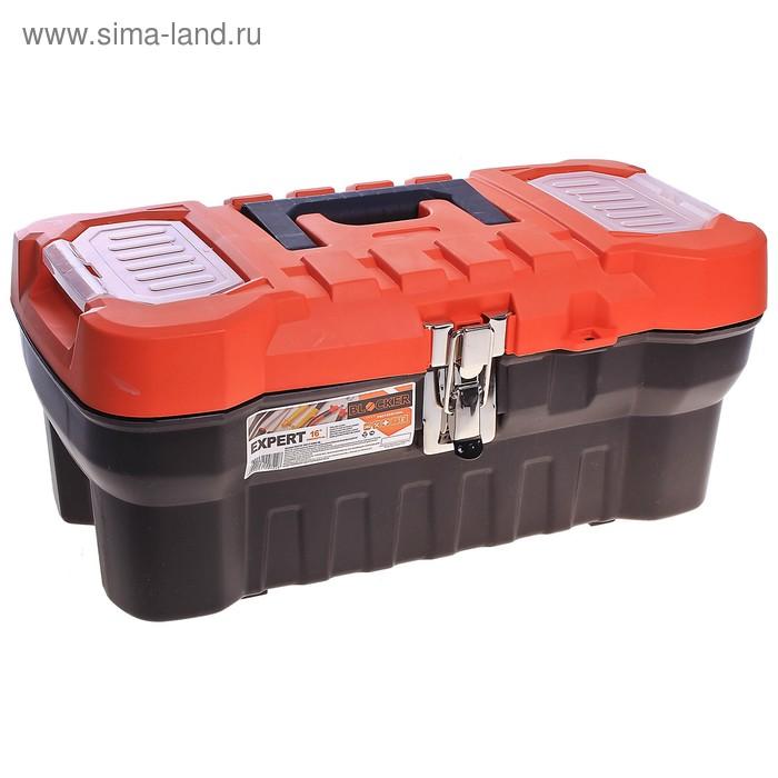 Ящик для инструментов Expert 16, цвет черно-оранжевый