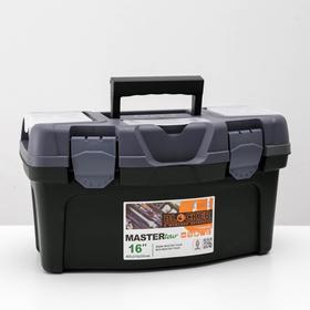 Ящик для инструментов Plastic Centre Master Tour, 16 секций, цвет темно-зеленый