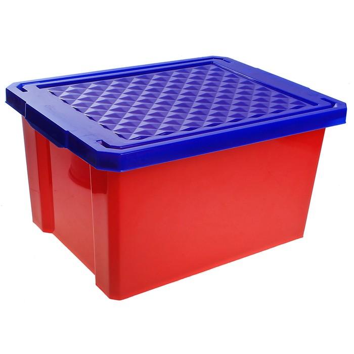 Ящик детский для хранения игрушек Little Angel Start, 17 л, цвет красный