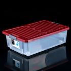 """Ящик для хранения на роликах прямоугольный со складной крышкой 30 л """"Unibox"""", цвет МИКС"""