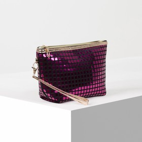 Cosmetic bag-bag Chic, 23*6*14, otd zipper with handle, raspberry