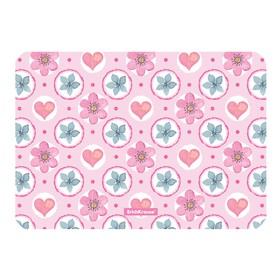 Накладка на стол пластиковая, А4, 297 х 210 мм, 550 мкм, Pink Flowers