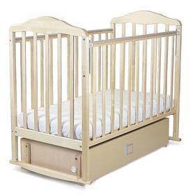 Кровать детская Берёзка с маятником и ящиком (автостенка,качалка, закр.ящик,попер.маятник,накладка)
