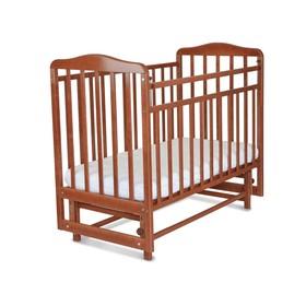 Кровать детская Митенька с маятником (опуск.планка, орех)