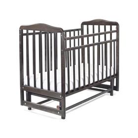 Кровать детская Митенька с маятником (опуск.планка, венге)