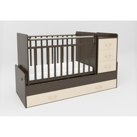 Кровать детская СКВ-5, опуск.бок.,маятник,4 ящика, венге фасад-бежевый