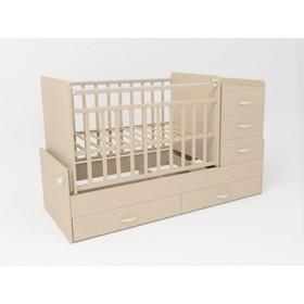 Кровать детская СКВ-5, опуск.бок.,маятник,5 ящиков,бежевый