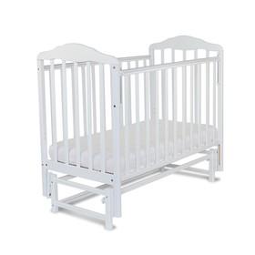 Кровать детская Берёзка с маятником (автостенка, прод.маятник, накладка ПВХ, белый)