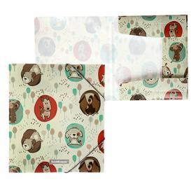 Папка для тетрадей на резинке А5+, 550 мкм, ErichKrause Little Dogs, до 300 листов, с рисунком