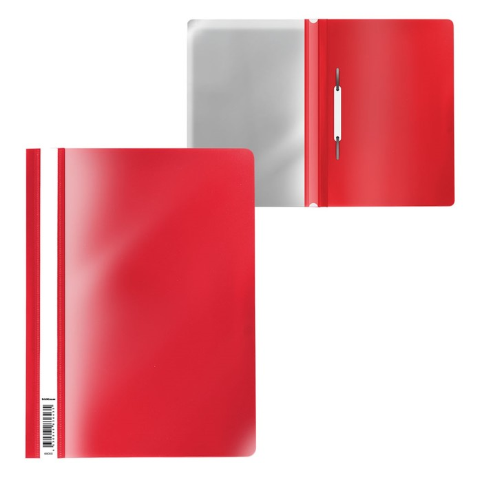 Папка-скоросшиватель A4, ErichKrause Fizzy Classic, красная