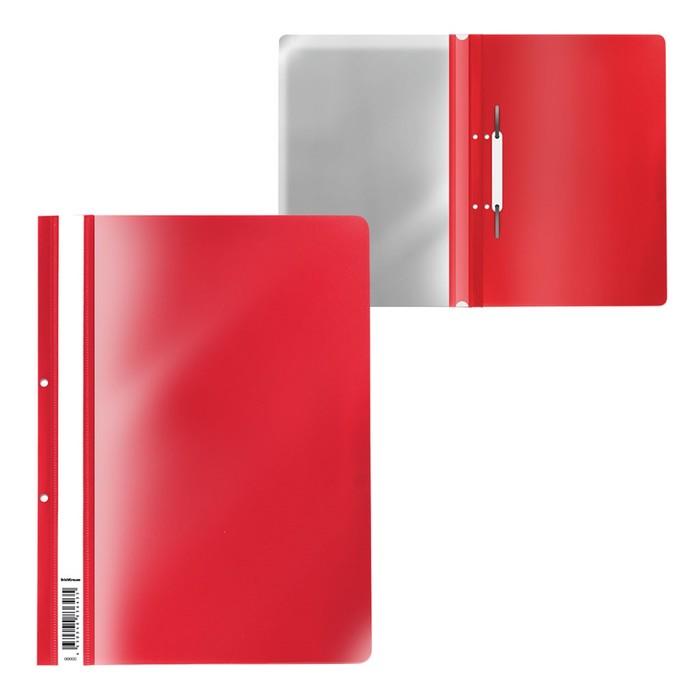 Папка-скоросшиватель с перфорацией A4, ErichKrause, Fizzy Classic, красная