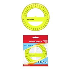 """Транспортир 360*/12 см """"Neon"""", желтый"""
