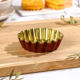 Форма для выпечки булок №2, h=3 см, d=10*8,4 см, антипригарное покрытие