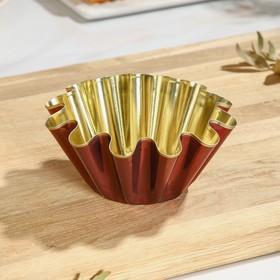 Форма для выпечки ром-бабы №1, h=6 см, d=13*7 см, антипригарное покрытие