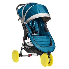 Чехлы на колеса прогулочной коляски, 4 шт., в сумке, цвет желтый