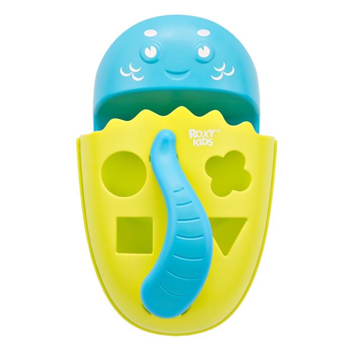 Органайзер-сортер DINO с полкой для игрушек и банных принадлежностей, цвет зеленый