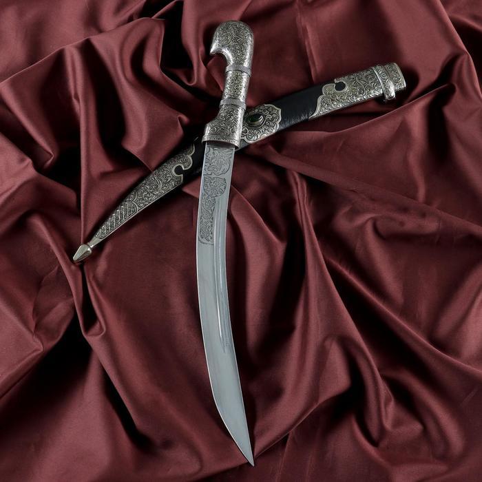Ятаган сувенирный, кожанные ножны