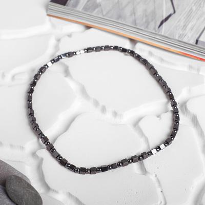 """Beads ball No. 4 using the cube """"Hematite"""", 45cm"""