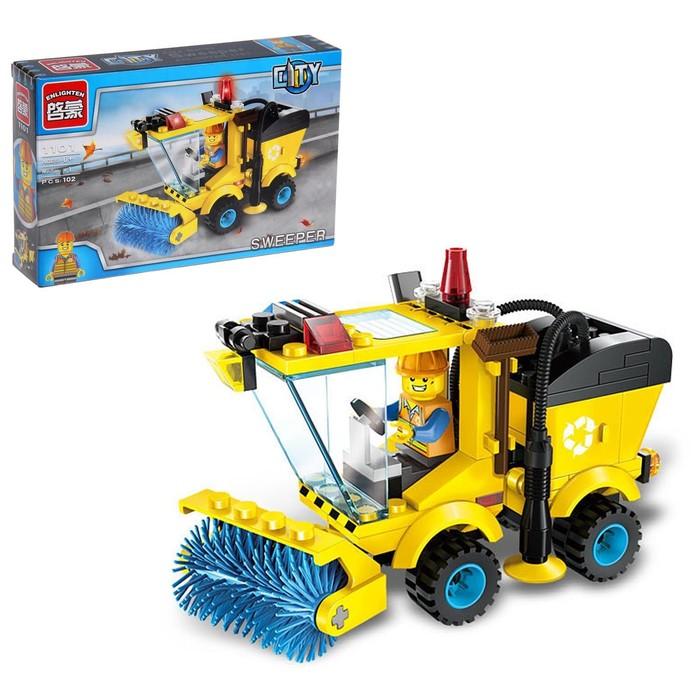 Конструктор Город «Машина для уборки улиц», 102 детали - фото 105635155